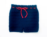 Panthers Hockey Crochet Pants Navy Blue Red