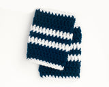Maple Leafs Logo Hockey Baby Boy Crochet Socks