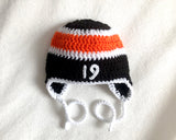 Flyers Hockey Baby Boy Crochet Black Orange Outfit