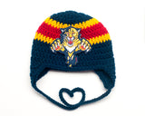 Panthers Hockey Logo Baby Crochet Hat
