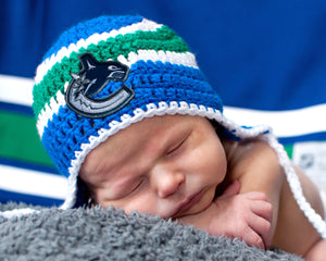 Canucks Hockey Logo Baby Hat