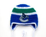 Canucks Hockey Logo Crochet Hat