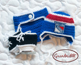 Rangers Hockey Logo Baby Boy Crochet Blue Red White
