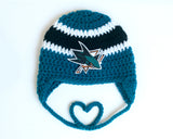 Sharks Hockey Logo Baby Boy Crochet Hat
