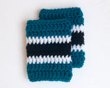 Sharks Hockey Socks Baby Boy Crochet