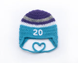 hockey baby Anaheim Mighty Ducks crochet hat