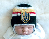 Golden Knights Hockey Logo Baby Boy Crocheted