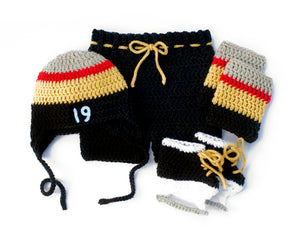 Vegas Golden Knights Baby Boy Hockey Crochet