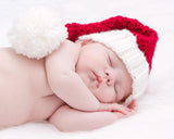 holidays christmas red-white stocking hat newborn photography