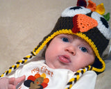 Crochet Baby Thanksgiving Turkey Hat Photography Prop