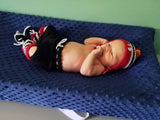 Blackhawks Hockey Baby Outfit Crochet Hat Pants Socks & Skates