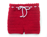 Red Wings Hockey Baby Crochet Pants