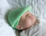 Crochet Baby Boy Mint Green Golf Hat & Diaper Cover
