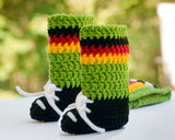 Soccer Baby Boy Crochet Hat & Shoes with Socks Germany Flag