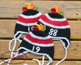 Crochet Baby Boy Chicago Blackhawks Hockey Hats