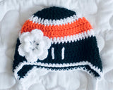 Philadelphia Flyers Baby Girl Hockey Hat Black Orange
