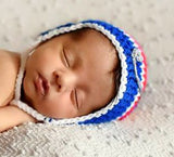 Crochet Baby Boy Blue Red Rangers Hockey Hat Photography