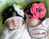 Twin Girl Camo Hot Pink Cream Camouflage Photography Prop