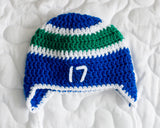 Canucks Hockey Baby Boy Crochet Hat Pants Socks & Skates