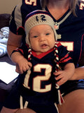 baby boy crochet patriots football hat