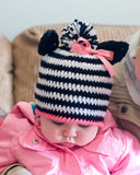 Baby Girl Crochet Zebra Hat