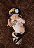 Baby Girl Bruins Penguins Hockey Hat Skates Newborn Photography