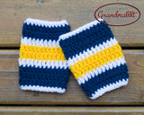 Baby Boy Crocheted Sabres Hockey Socks Blue Gold