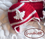 Team Canada Maple Leaf Hockey Red and White Hat