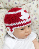 Canada Red White Maple Leaf Baby Hockey Helmet