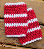 Canada Red White Baby Hockey Crochet Socks