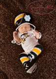Baby Girl Bruins Penguins Hockey Hat Socks Skates Newborn Photography