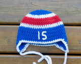 Newborn Photography Baby Boy Hockey Rangers Hat