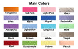Main Color Sample Chart