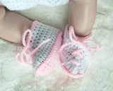 Baby Sailor Shoes Pink White
