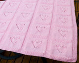 Knitted Baby Blanket Afghan Pattern