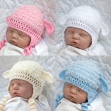 Grandmabilt yarn color samples Fluffy Lamb Crochet Hats