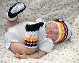 Soccer Baby crochet Germany Football Hat Socks Shoes