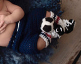 Soccer Baby crochet USA Red White and Blue