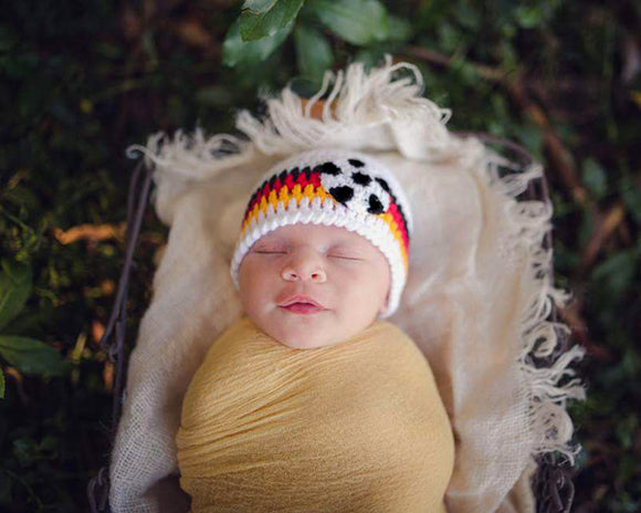 Germany Soccer Baby Crochet Hat Newborn Photography