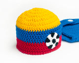 Baby Columbia Soccer Crochet Hat and Diaper Cover