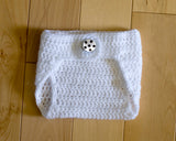 Crochet White Baby Crochet Diaper Cover