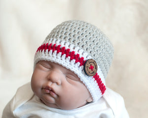 Baby Sock Monkey Crocheted Skull Cap Beanie Hat