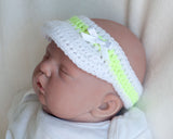 Baby Girl Tennis Outfit Visor Neon Yellow
