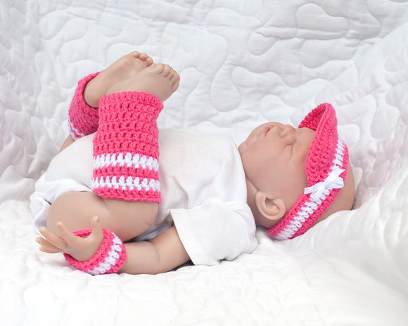 Baby Girl Tennis or Golf Visor Wrist Bands Leg Warmers