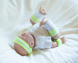 Neon Yellow Tennis Baby Crochet Headband Wristbands Leg Warmers