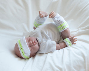 Baby Tennis Outfit Visor Wrist Bands Leg Warmers