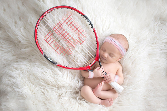 Baby Girl Tennis or Basketball Crochet Sweatbands