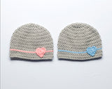 Baby Girl Baby Boy Crochet Heart Beanie Hats