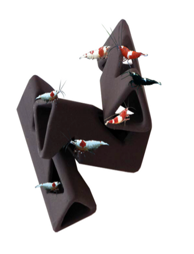 Ceramic Triangle Shrimp Shelters - Seven Fishes