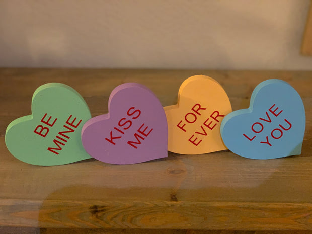 Conversation hearts set of 5